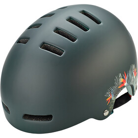 Lazer Armor Casco, matte green flowers